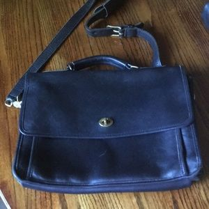 Coach vintage leather work bag
